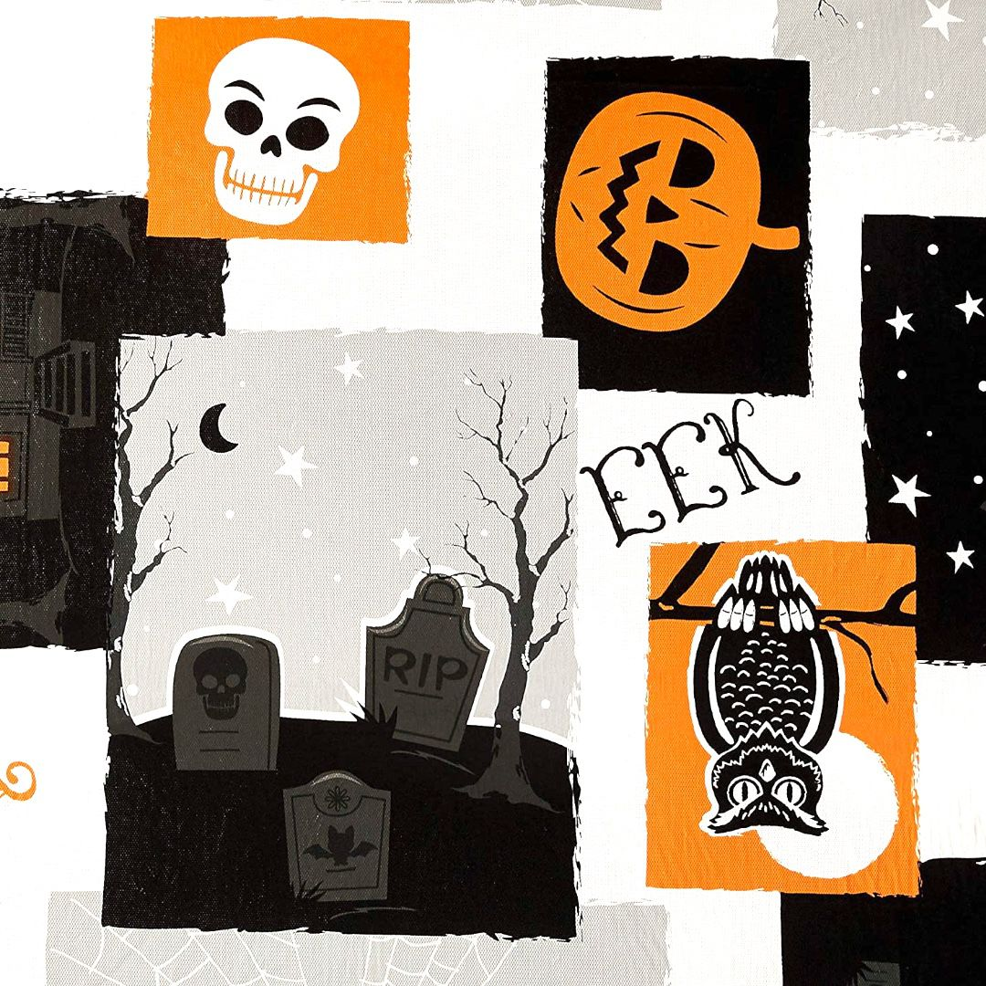 "Way To Celebrate - Halloween Boo PEVA Vinyl Tablecloth 60""x84"""
