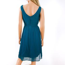 J.Crew Dark Teal Blue Silk Sleeveless Party Dress, 10 Thumbnail