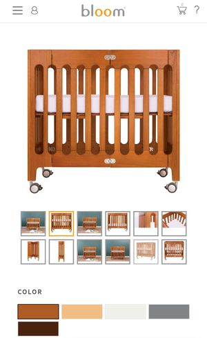 Bloom baby wooden crib with mattress for Sale in NEW CARROLLTN, MD
