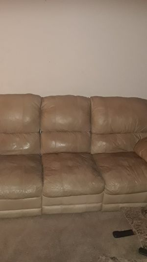 $325 CASH leather sofa 2 built in recliners. Clean and neat for Sale in San  Diego, CA - OfferUp