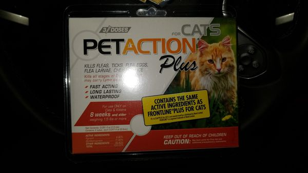 6 Boxes Pet Action Plus Flea And Tic Killer For Cats And Small Dogs