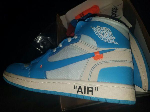 Nike Air Jordan 1 retro off-white unc series size 12  e75467724