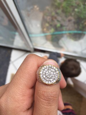 18k Gold Plated Stimulated Diamond Men Ring size 8 for Sale in Silver Spring, MD