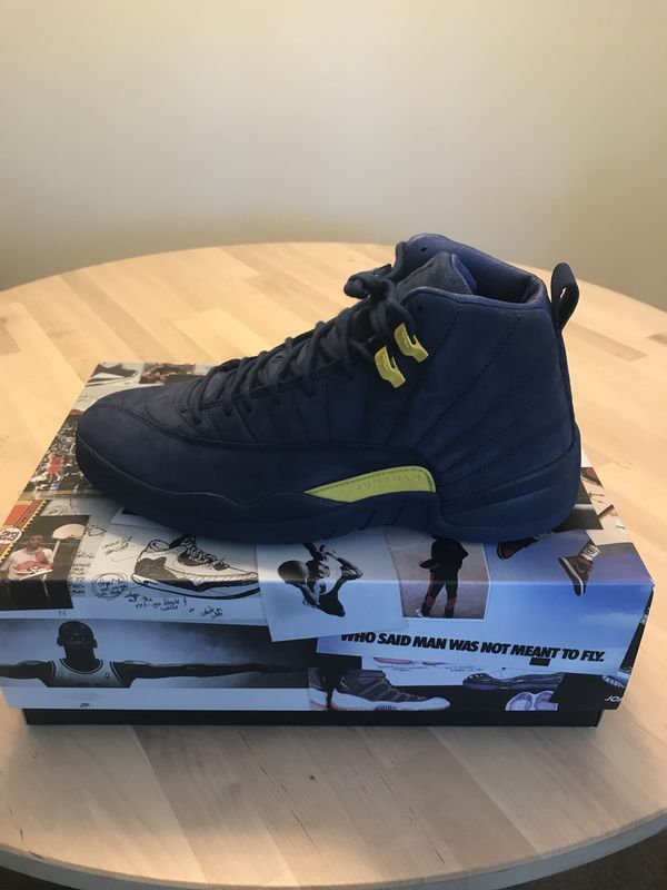 reputable site 80274 7354c Air Jordan Retro 12–Michigan, Size 11