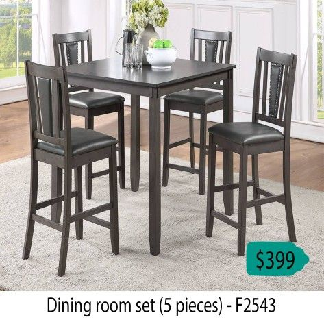Dinning Room Set 5 Pieces ( Table + 4 Chairs )