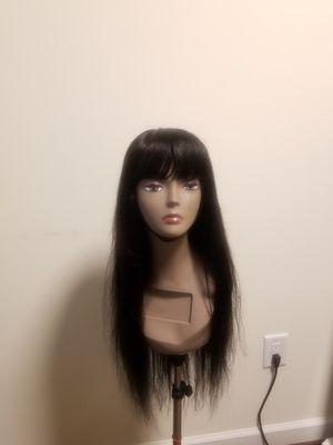 "22"" Straight Brazilian human hair with bang for Sale in Washington, DC"