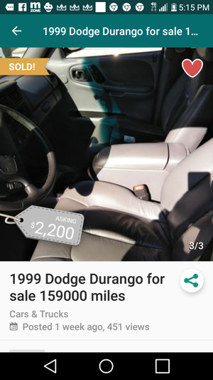 1999 dodge durango 181.000 for Sale in Forest Heights, MD