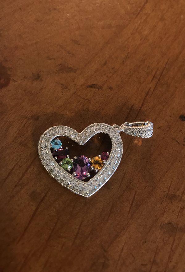 Judith ripka multi gem heart pendant and ring for sale in el paso judith ripka multi gem heart pendant and ring for sale in el paso tx offerup aloadofball Images