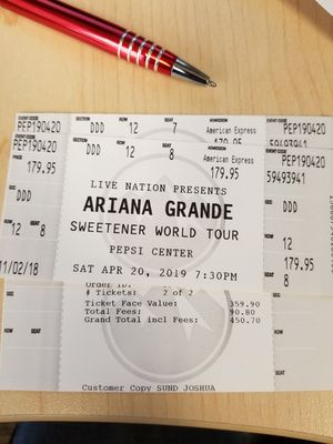 Ariana Grande Floor Seats for Sale in Lakewood, CO