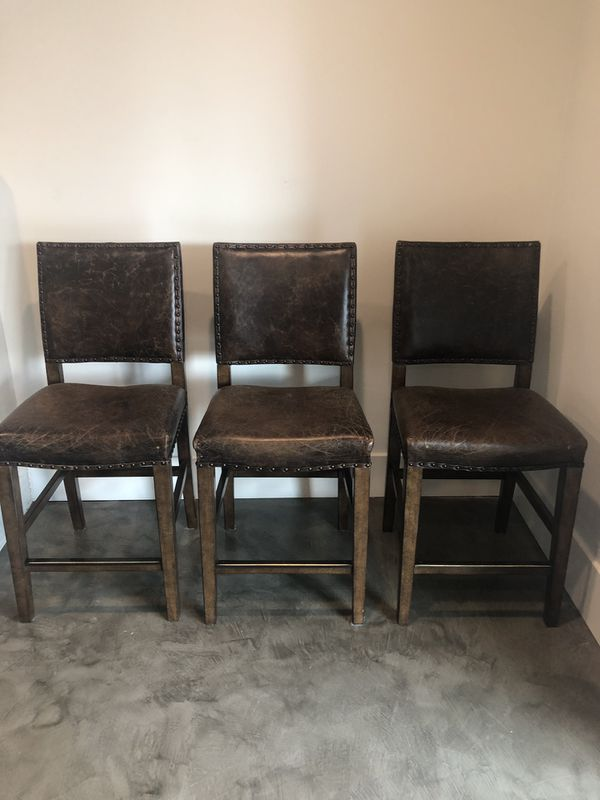 3 Barstools Purchased From Pottery Barn For Sale In