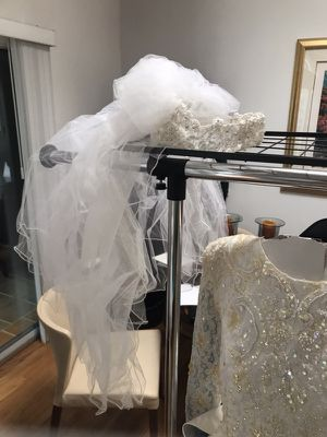 Wedding Dress 8 10 Foot Train Veil For Sale In Virginia Beach