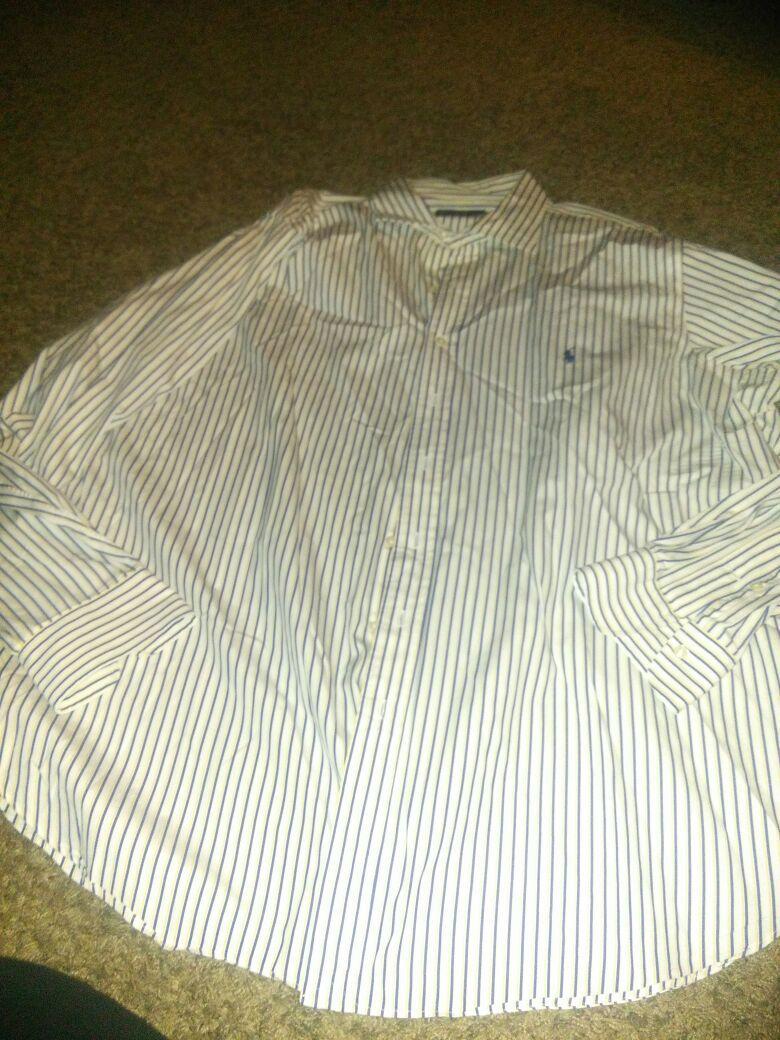 Ralph Lauren Polo Stanton Classic Fit 2XLT Tall Button Down Shirt