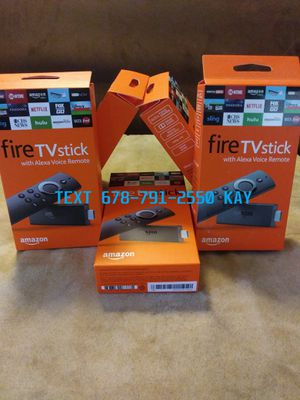 Amazon Fire TV Stick w/ Alexa Voice Remote/ Fully Loaded & Jailbroken PLUG AND PLAY for Sale in Ellenwood, GA