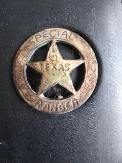 Texas Rangers Badge Test Silver Thumbnail