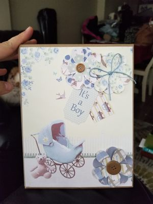 Brand New: Handmade Baby Book Scrapbook: It's a Boy! for Sale in Seattle, WA
