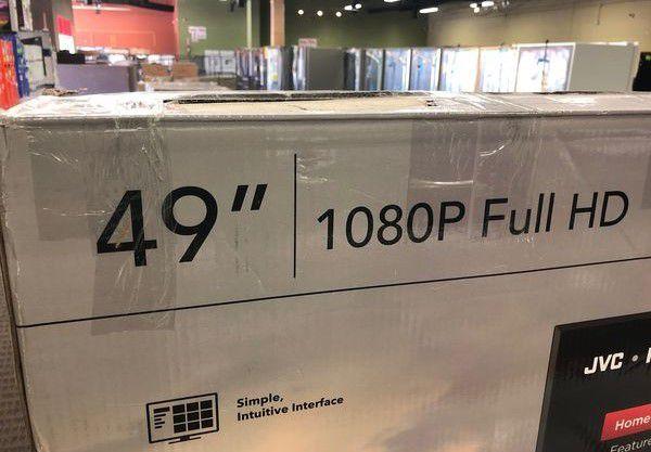"""Brand New JVC 49"""" Tv (model:LT-49MAW598) ON"""