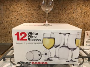 Never Used 12 White Wine Glasses for Sale in Los Angeles, CA