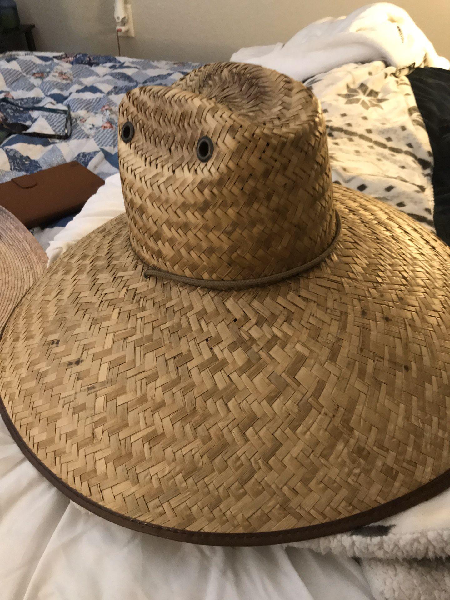 Two Sunhats handwoven 20$