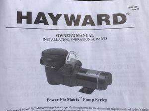 Photo HAYWARD ABOVE GROUND POOL PUMP BRAND NEW!
