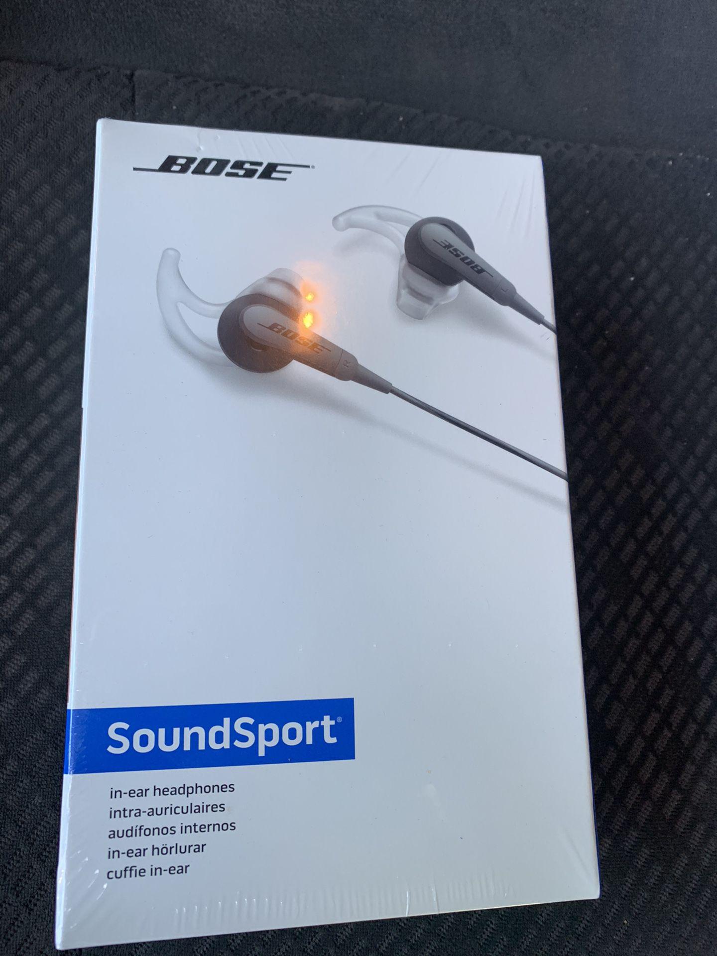 Bose Sound Sport Head Phones Brand New In Original Packaging