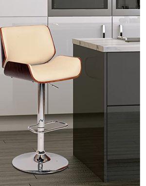 Photo New!! Barstool, bar stool, kitchen stool, kitchen barstool, Chrome base upholstered seat and back upright barstool, dinning room barstool, kitchen f