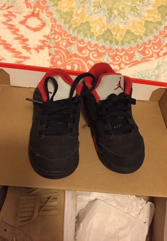 low priced 49cca 63dfb Jordan shoes toddler size 8 red/black for Sale in Lakewood, WA - OfferUp