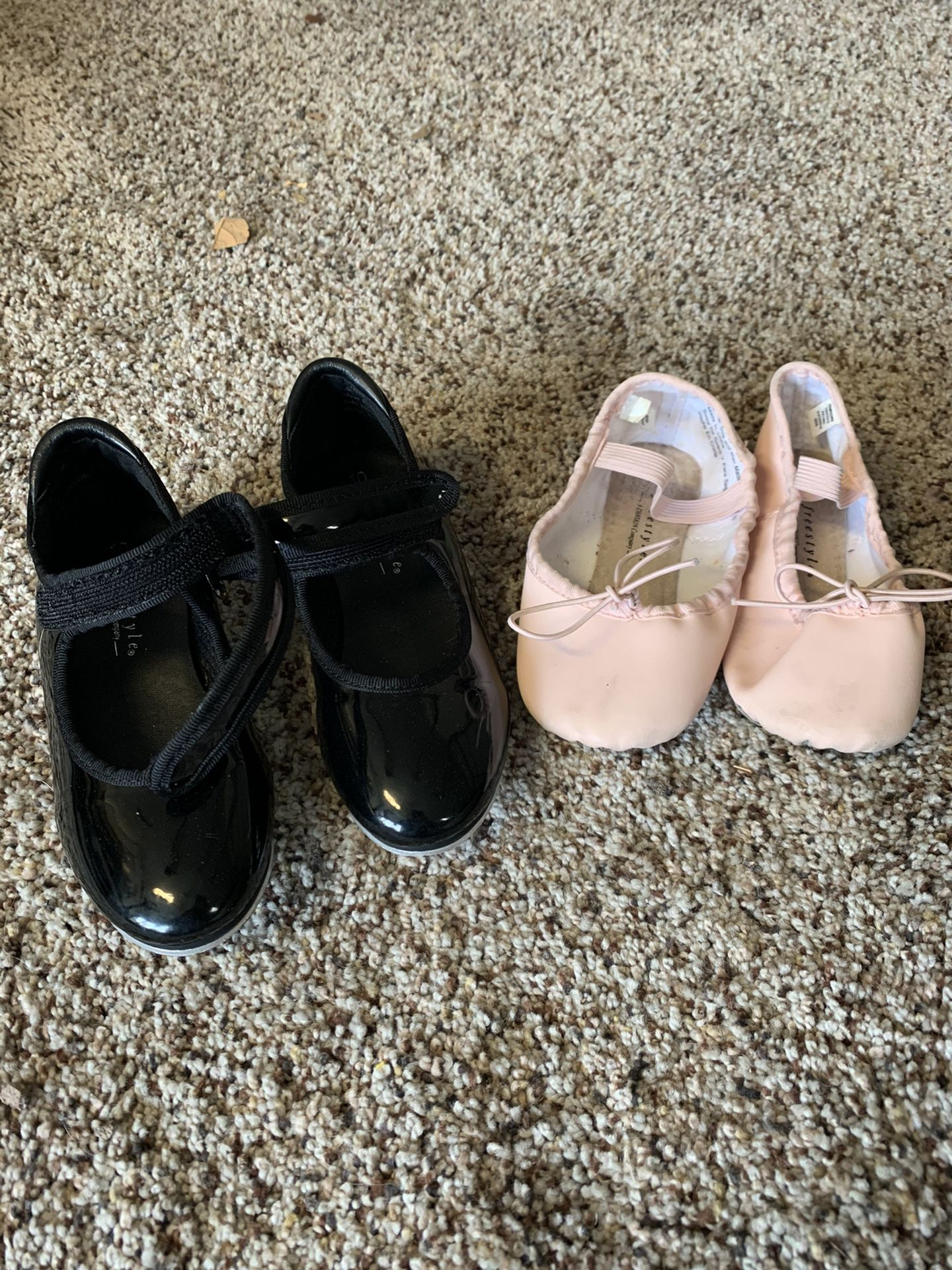 Toddler tap and ballet shoes