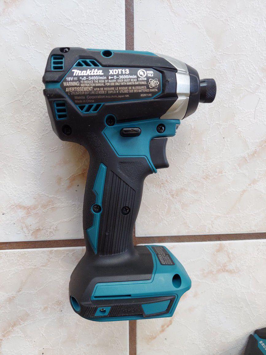 "New Makita Impact Driver 1/4"" XDT13 - Brushless"