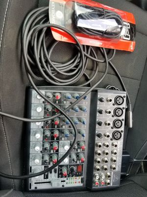 mixer with all the cables for Sale in Manassas, VA