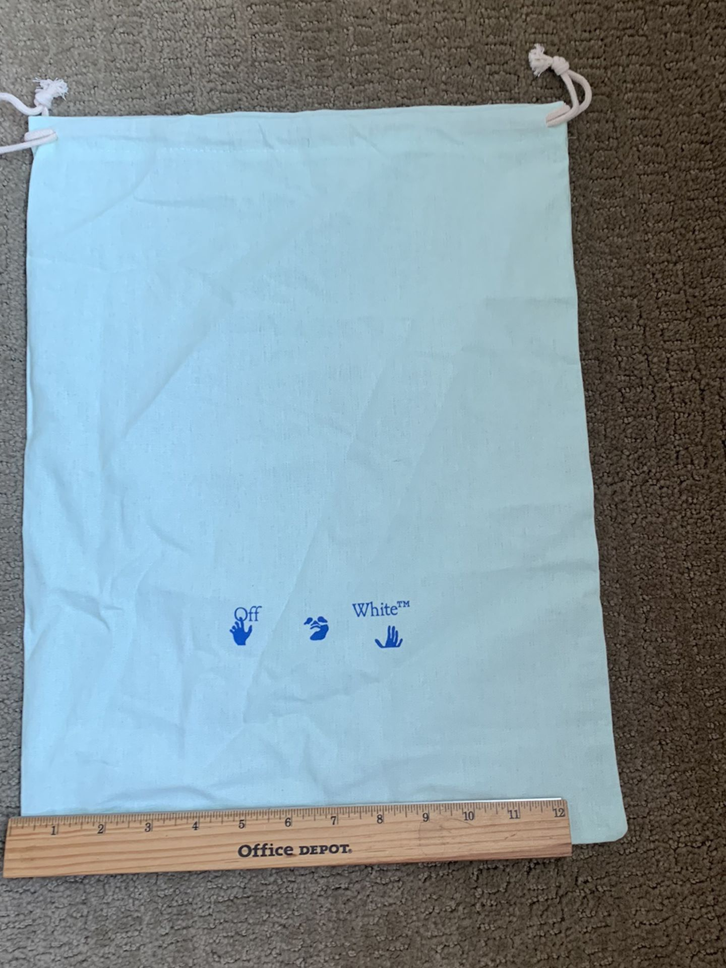 Off White Virgil Abloh Shoe Dust Bag Teal Green New Authentic