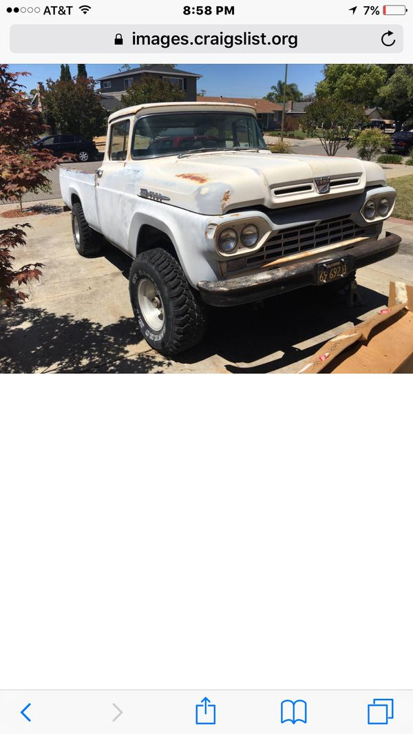 1960 ford f100 4x4 for Sale in San Jose, CA - OfferUp
