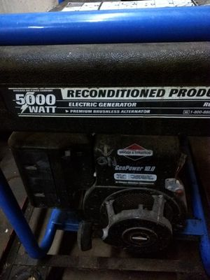 Generator. 5000Watt. Briggs & Stratton motor. for Sale in Brinnon, WA