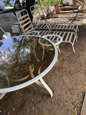 Metal Patio Furniture For Sale To Metal Patio Set With Glass Top Tables For Sale In Tucson Az New And Used Patio Furniture Offerup