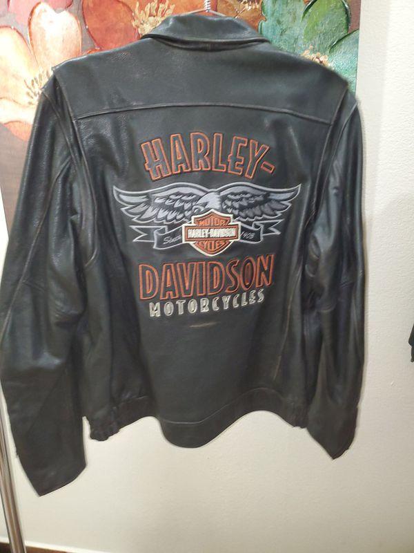Offerup Las Vegas >> Harley Davidson Distressed Leather Jacket Full Back Logo ...
