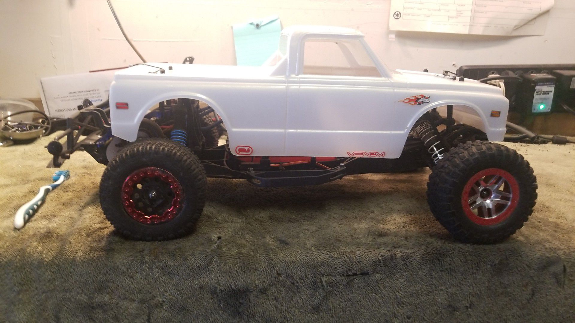 Hpi blitz with 70s Chevy body.