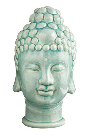 NEW Buddha Head statue - Ceramic, Jade Green for Sale in Denver, CO