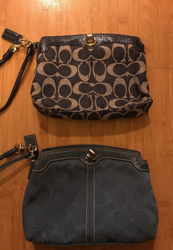 Two perfect coach clutches / small purse