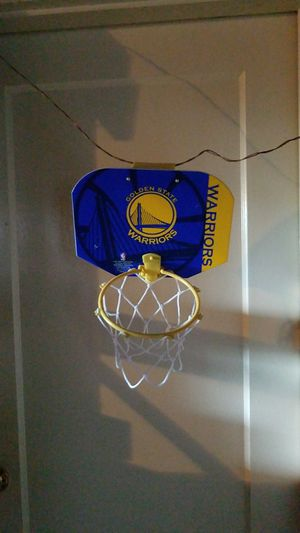 Golden State Warriors mini basketball hoop with ball for Sale in Oakland 0ed3f2db4