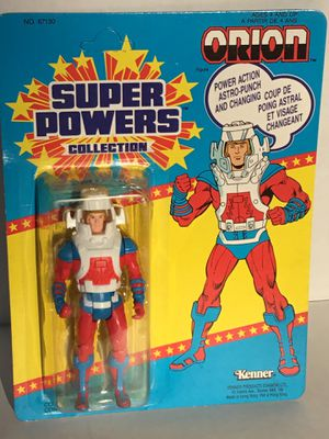 """Vintage RARE CANADIAN BACK CARD OF """"ORION"""" SUPERPOWERS ACTION FIGURE MOC for Sale in Mountville, PA"""