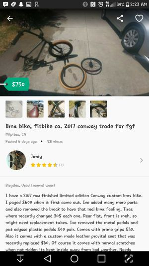 Fit bike co Conway limited edition many upgrades for Sale in Milpitas, CA