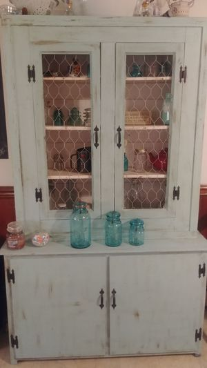 Farmhouse kitchen cabinet, blue green color for Sale in Ashland, VA