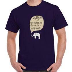 Anything Unrelated ELEPHANTS IrrELEPHANT Funny T-shirt Safari Tee Men Navy 3X Thumbnail