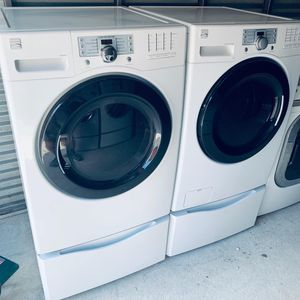 Photo Kenmore Elite Steam Front Load Washer/Dryer Set (Pedestals Included)-PRICE IS FIRM
