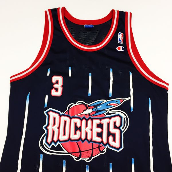 305fdf30829 Rare vintage Champion Houston Rockets Steve Francis NBA Jersey sz 44 ...