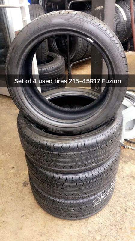 Set Of 4 Used Tires 215 45r17 Fuzion For Sale In Raleigh Nc Offerup