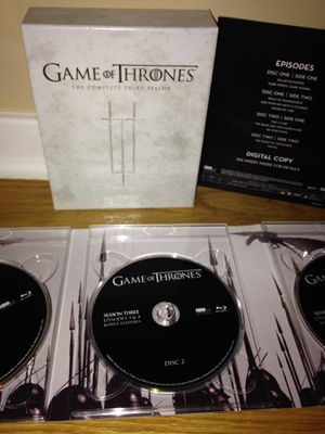 COMPLETE 3rd SEASON Of GAME OF THRONES-WEST LOOP PICK UP for Sale in Chicago, IL
