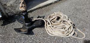 16lb mushroom anchor w/ 40ft line for Sale in Nashville, TN