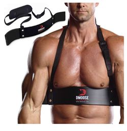 DMoose Arm Blaster for Biceps Triceps Bodybuilding Muscle Strength Gains Workout Equipment Training Contoured Bicep Blaster Isolator Preacher Curling  Thumbnail