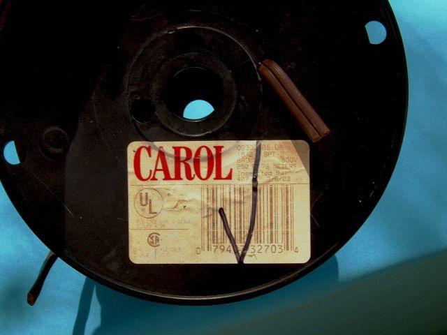 Carol02303.R5.08 SPT-2Lamp Cord16/2 250 FT 300V, Brown