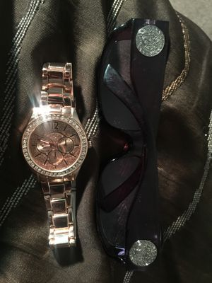 Women's Genuine Gianni Versace shades and Michael Kors women's rose gold watch for Sale in Herndon, VA